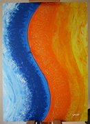 acryl-blau-orange